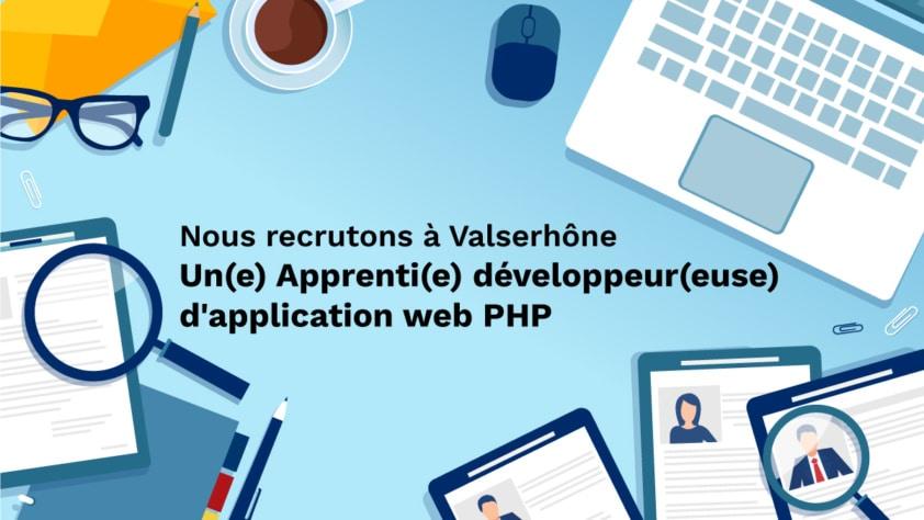 Recrutement : Apprenti(e) développeur(euse) d'application web PHP